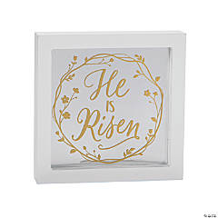 He is Risen Tabletop Sign Decoration
