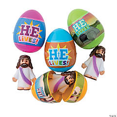 He is Risen Toy-Filled Plastic Easter Eggs - 12 Pc.