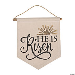 He Lives Canvas Banner