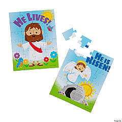 He Lives Jigsaw Puzzles with Header Card