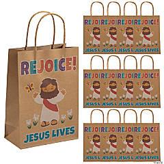 He Lives Kraft Paper Gift Bags