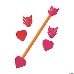 Heart & Arrow Eraser Pencil Toppers