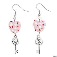 Heart & Key Earrings Craft Kit