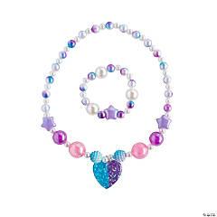 Heart Beaded Necklace & Bracelet Sets