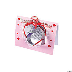Heart Cookie Cutter with Cookie Recipe Valentine's Day Cards