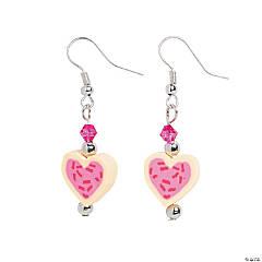 Heart Cookie Earrings Craft Kit
