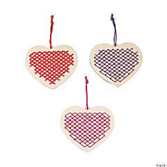Heart Cross Stitch Ornament Craft Kit