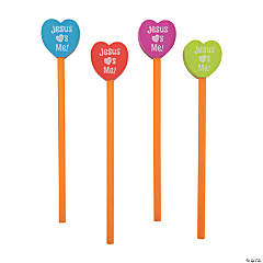 Heart Eraser Pencil Toppers