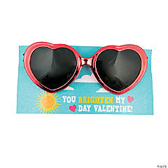 Heart Glasses with Valentine's Day Cards