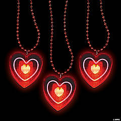Heart Light-Up Beaded Necklaces