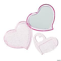 Heart Mirror & Comb Set