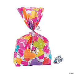 Heart Pattern Cellophane Bags