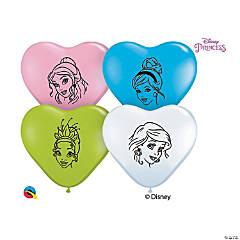 "Heart-Shaped Disney Princesses 9"" Latex Balloons"