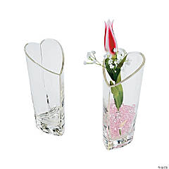 Heart-Shaped Glass Vase