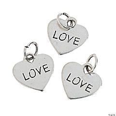 "Heart-Shaped ""Love"" Charms"