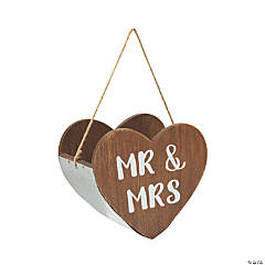 Heart Shaped Mr. & Mrs. Basket