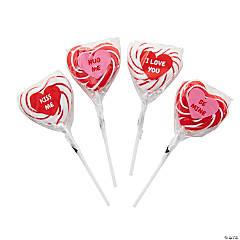 Heart-Shaped Swirl Lollipops