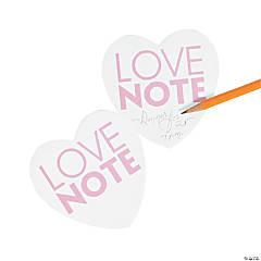 Heart-Shaped Wedding Sticky Notes
