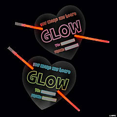 Heart Valentine's Day Cards with Glow Bracelets