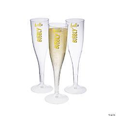 Hello Bubbly Champagne Flutes
