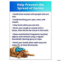 Help Prevent the Spread of Germs Peel & Stick Decals