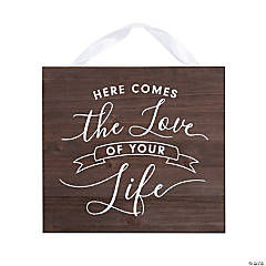 Here Comes the Love of Your Life Ring Bearer Sign