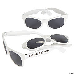 Here for the Party White Nomad Sunglasses