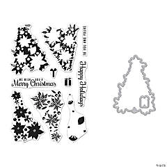 Hero Arts Clear Stamp & Die Combo - Color Layering Poinsettia Christmas Tree