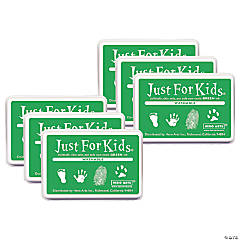 Hero Arts® Just for Kids® Washable Ink Pad, Green, Pack of 6