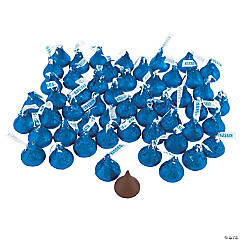 Hershey's® Kisses® 400 Pc. Blue Chocolate Candy