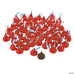 Hershey's® Kisses® 400 Pc. Red Chocolate Candy