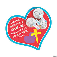 Hershey's<sup>®</sup> Kisses<sup>® </sup>1 Peter 5:14 Valentine's Day Cards