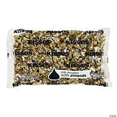 HERSHEY'S KISSES Milk Chocolates with Almonds, Gold, 66.7 oz