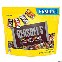 HERSHEY'S Miniatures Chocolate Candy Assortment, Family Size 17.6 oz