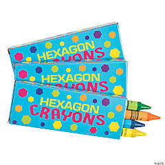Hexagon Crayons - 4 Pc.