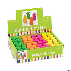 Hexagon Neon Mini Bubble Bottles