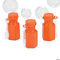 Hexagon Orange Mini Bubble Bottles