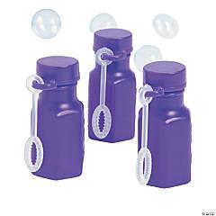 Hexagon Purple Mini Bubble Bottles
