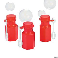 Hexagon Red Mini Bubble Bottles - 48 Pc.