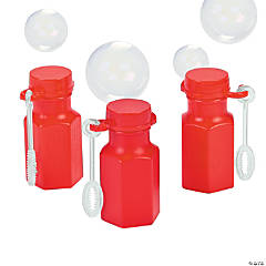 Hexagon Red Mini Bubble Bottles