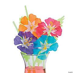 Hibiscus Flower Straws