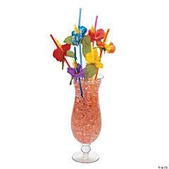 Hibiscus Plastic Straws