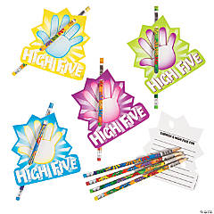 High Five Reward Pencils with Card - 24 Pc.