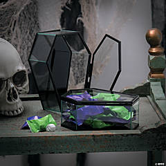 Hinged Glass Coffins Halloween Decorations