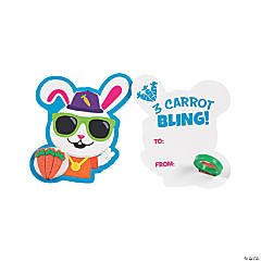 Hip Hop Bunny Cards with Carrot Ring