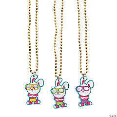 Hip Hop Bunny Gold Chain Bead Necklaces
