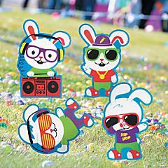 Hip Hop Bunny Yard Signs