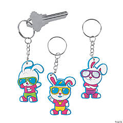 Hip Hop Easter Bunny Keychains