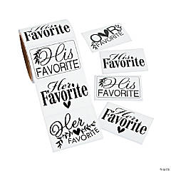 His Hers & Ours Wedding Favor Stickers