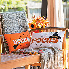 Hocus Pocus Outdoor Throw Pillows Halloween Decorations